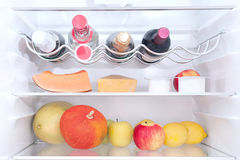 In the refrigerator Stock Image
