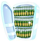 Refrigerator full of beers Stock Images