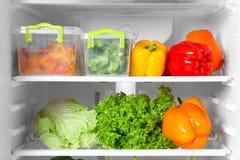 Refrigerator full of food. Refrigerator full of the food Stock Photos