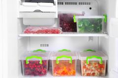 Refrigerator full of food. Refrigerator full of the food Royalty Free Stock Images