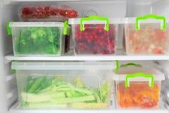 Refrigerator full of food. Refrigerator full of the food Stock Image
