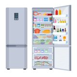 Refrigerator Full Of Various Food Stock Photography