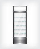 Refrigerator with glass shelves Royalty Free Stock Image