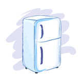 Refrigerator Hand Drawing Sketch Illustration Royalty Free Stock Images