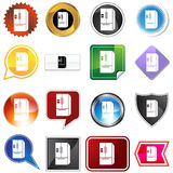 Refrigerator icon set Royalty Free Stock Photos