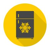 Refrigerator icon. Simple vector icon stock illustration
