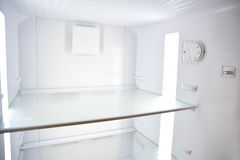 Refrigerator. Interior With No Products Inside Royalty Free Stock Photos