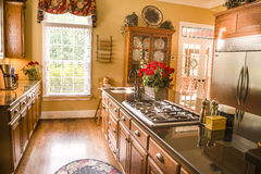 Refrigerator in Kitchen Dining Area Stock Photo