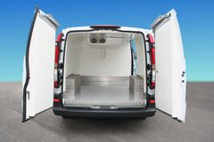 Refrigerator minivan royalty free stock photography