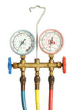 Refrigerator pressure gauges Stock Image
