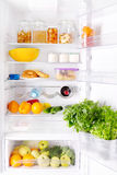 Refrigerator with products Royalty Free Stock Images