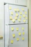 Refrigerator and reminders Royalty Free Stock Image