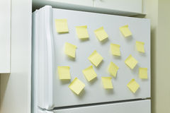 Refrigerator and reminders Stock Photography