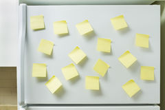 Refrigerator and reminders Royalty Free Stock Photography