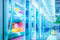 Refrigerator in the supermarket Royalty Free Stock Images