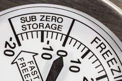 Refrigerator Thermometer Stock Photo