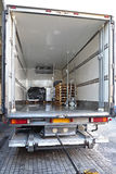 Refrigerator Truck. For Perishable Freight Transport Stock Images