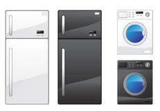 Refrigerator and washing machine Stock Images