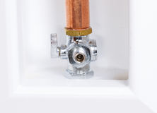 Refrigerator water inlet valve Royalty Free Stock Images
