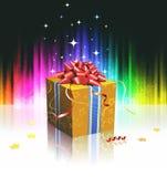 Refrigere a caixa de presente Imagens de Stock Royalty Free