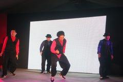 Refrigere a dança na fase aberta Imagem de Stock