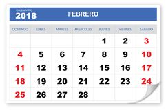Refrigere e goste do calendário 2018 ilustração stock