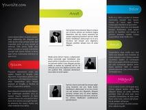 Refrigere o molde do Web do projeto com elementos claros Imagem de Stock