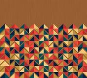 Refrigere o vintage colorido do fundo dos triângulos Fotografia de Stock