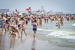Refroidir le rivage du Jersey Images libres de droits