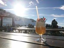 Refroidissement dans les Alpes image stock