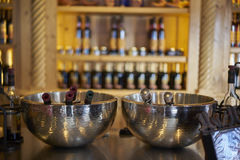 Refroidissement de vin Image stock
