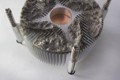 Refroidisseur poussiéreux de refroidisseur sur le refroidissement blanc de fond image libre de droits