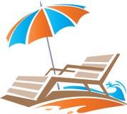Refroidissez en plage illustration stock