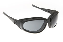 Refroidissez, façonnez et noircissez les lunettes de soleil de sport Image libre de droits