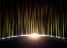 Refroidissez l'éclipse stylisée dans le stlyle digital Image libre de droits