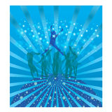 refroidissez la danse illustration stock