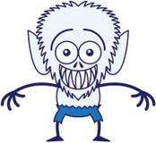 Refroidissez le loup-garou de Halloween grimaçant tout en se sentant gêné Photographie stock libre de droits