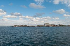 Refshale island industrial area in Copenhagen stock images