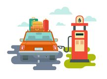 Refuel Car at Gas Station Stock Photography