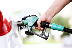 Refuel car with petrol stock photos