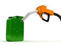 Refuel station pump over white background Royalty Free Stock Images