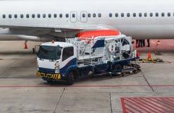 Refuelers d'avions Images libres de droits