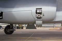 Refueling of aircraft Stock Images