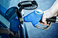 Refueling a car Stock Photos
