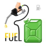 Refueling concept emblem, template for gasoline prices stock illustration
