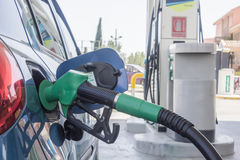 Refueling gasoline in a car Stock Photo