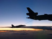Refueling in Midair Royalty Free Stock Photos