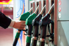Refueling on petrol station Stock Photography
