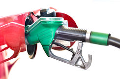 Refueling a red car at the gas station. Stock Photography