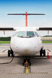 Refueling samolot obraz stock
